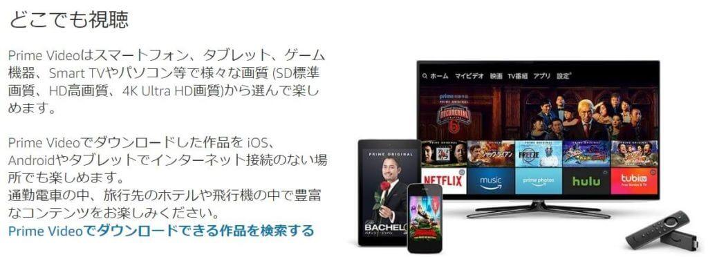 Amazonプライムビデオの動画ダウンロード