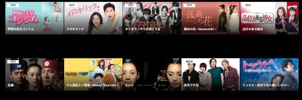 韓国ドラマも多い!動画配信サービスでは貴重